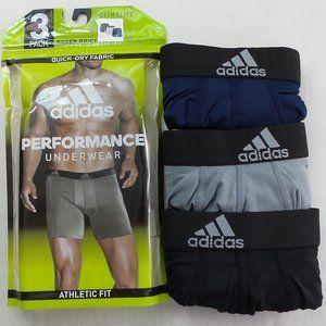 Adidas Mens Boxer Briefs 3 Pack M L Black Blue Gre